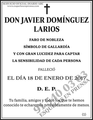 Javier Domínguez Larios